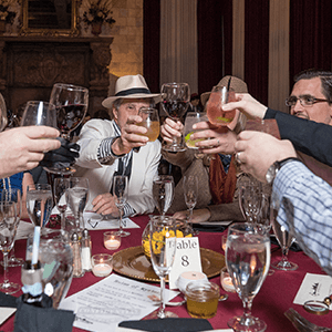 New Orleans Murder Mystery guests raise glasses